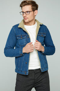 Men's Blue Denim Fur jacket (Contest) - THE UNIQUE FIT