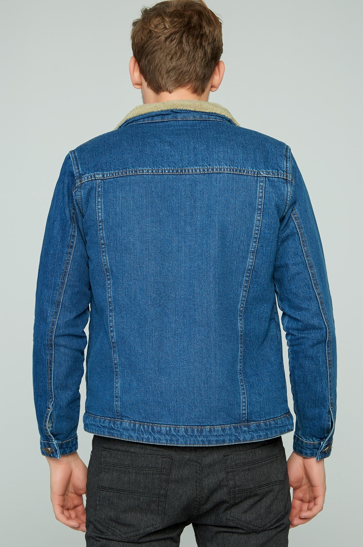 Men's Blue Denim Fur jacket (Contest)