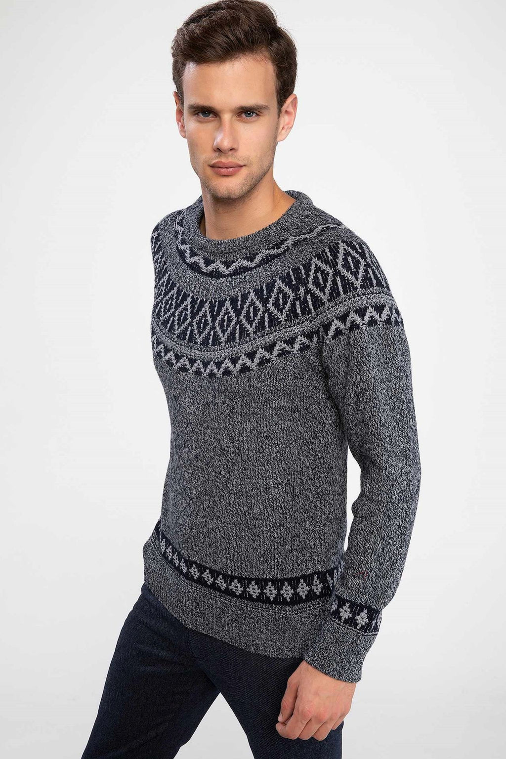 Men's Jacquard Patterned Pullover(Contest) - THE UNIQUE FIT