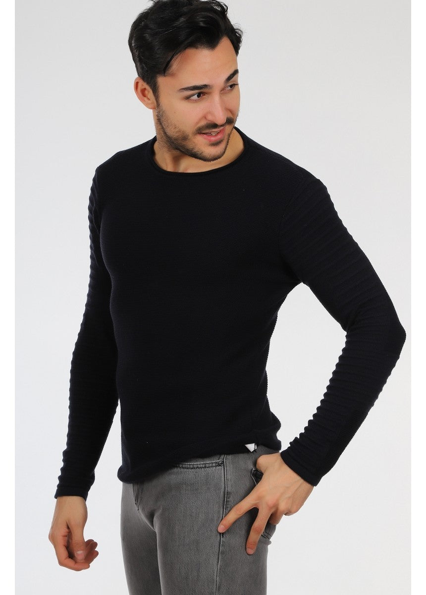 Men's Patterned Tricot Pullover