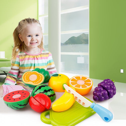 6PC Cutting Fruit Vegetable Pretend Play Children Kids Toy Educational Toy Kitchen toys