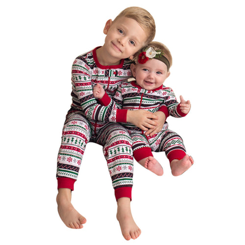 Baby Gear Unisex Autumn Toddler Infant Baby Long Sleeved Romper Red Striped Christmas Tree Snow Print
