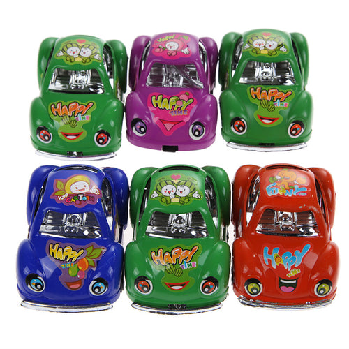 6pcs/lot Pullback Toy Cars Colorful Fun Mini Pull Back Car Set Vehicle Toys for Children Kids