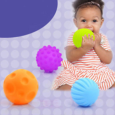 4Pcs Soft Plastic Ocean Ball Baby Children Educational Toy Bathroom Sound Toy