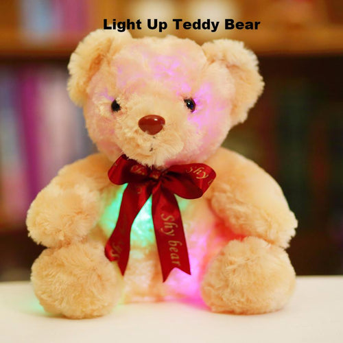 Baby Gear Creative Light Up LED Teddy Bear Stuffed Animals Christmas Gift For Kids