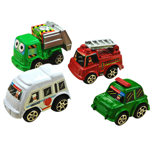 6pcs/bag Pull Back Car Toys for Boys Children Racing Car Baby Mini Cars Cartoon Bus Toys for Kids Children Toy Randomly Sent