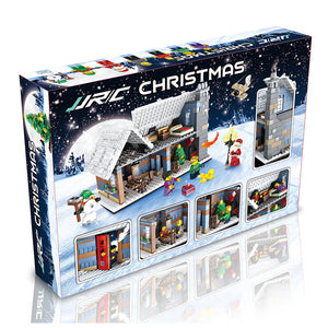 ABS Christmas Village Building Christmas Construction Toy Building Blocks Intelligent Educational Developmental