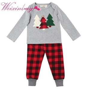 Baby Gear Christmas Unisex Children Kids Christmas Tree Suit T-Shirt Pants