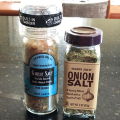 Garlic salt and onion salt at Trader Joe's