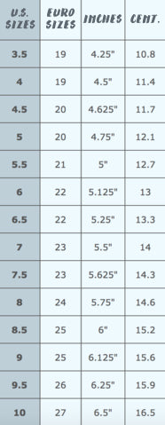 Euro To Us Kids Shoe Size Conversion Chart