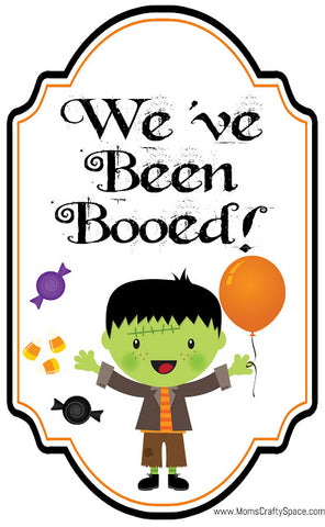 You've been boo-ed flyer with frankenstein