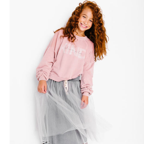 Izzy Be Be Kind Pink Sweatshirt for girls