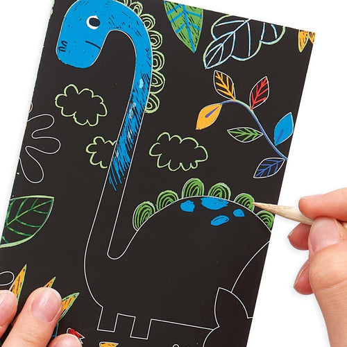 Ooly Mini Scratch & Scribble Art Kit- Dino Days