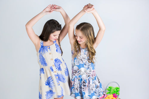 Leaf Print Tween Dress