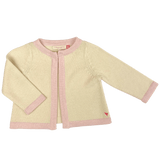 Pink chicken cream and pink baby girl cardigan sweater