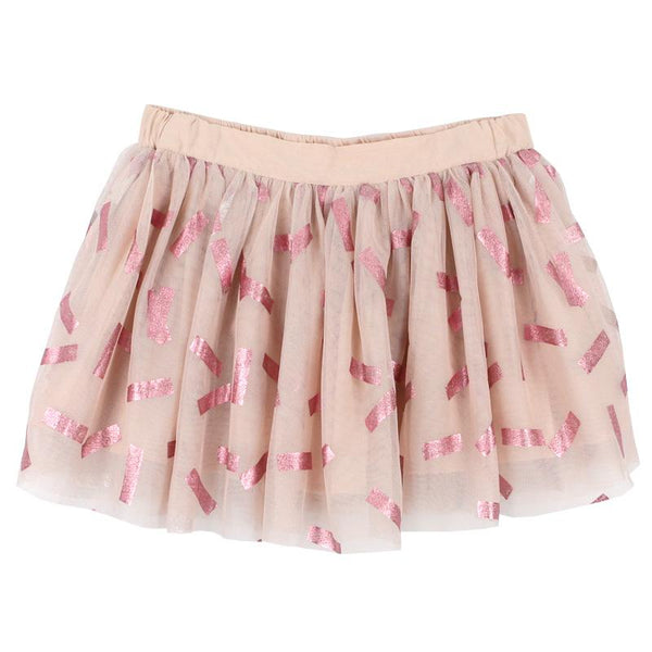 Stella McCartney Kids Metallic Confetti Rose Tulle Girls Skirt
