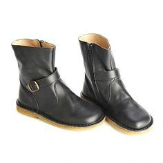 PePe Black Biker Boots by PePe Shoes - Little Skye Children's Boutique