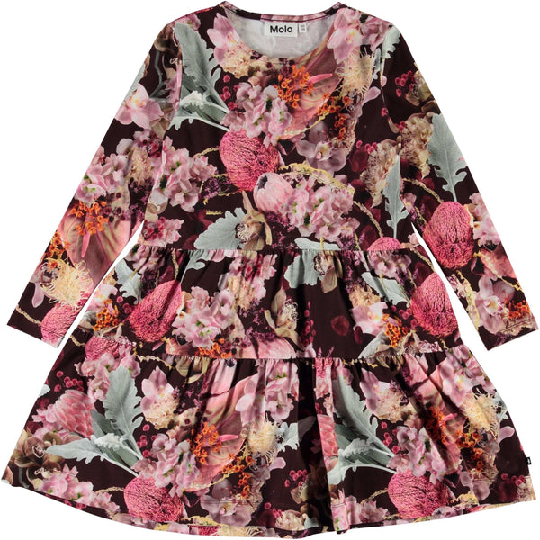Molo Winter Bouquet Organic Chia Girls Dress