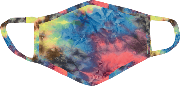 Stoopher Neon Tie Dye Face Mask - Child, Teen or Adult Size