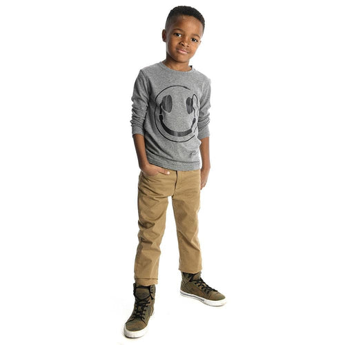 Appaman Grey Happy Tunes Boys Long Sleeve Tee