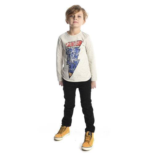 Boys navy blue skinny twill pants with snap by Appaman