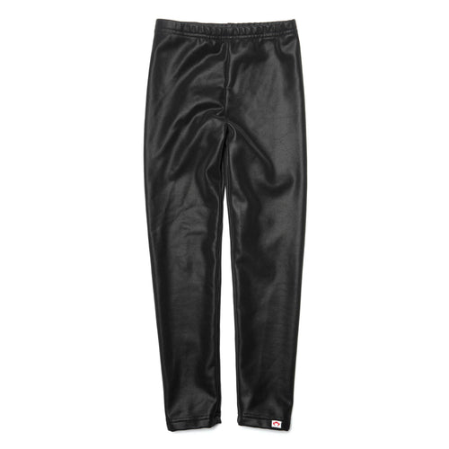 Appaman girls leggings shiny black