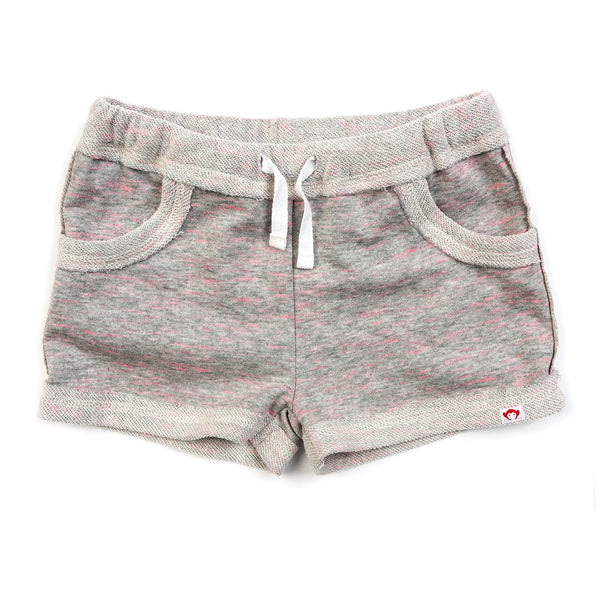 Appaman grey and pink knit girls shorts