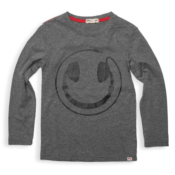 Appaman boys tee grey long sleeve headphones