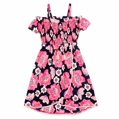 Appaman pink floral sleeveless girls dress