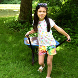 Appaman tropical fruit and rainbow short sleeve girls top