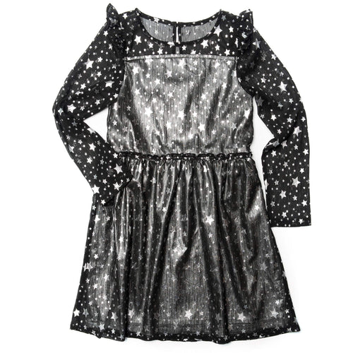 Appaman star print long sleeve girls dress
