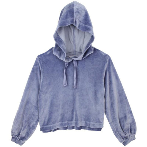 Bella Dahl Cloudy Blue Velour Girls Hoodie