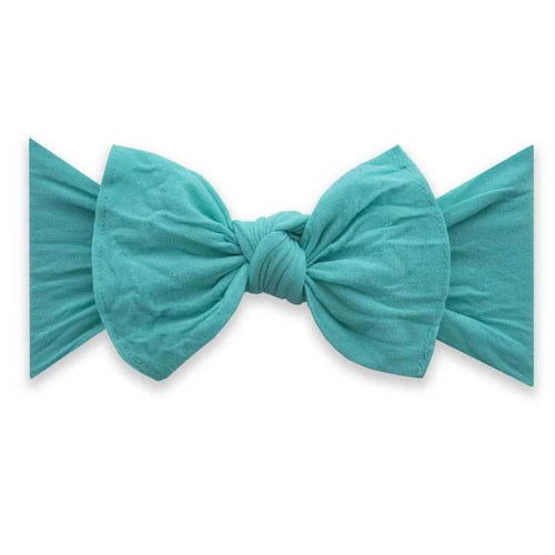 Baby Bling turquoise baby bow headband