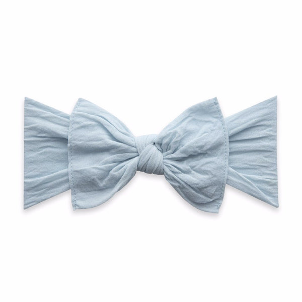 Baby Bling Bows chambray blue baby bow headband