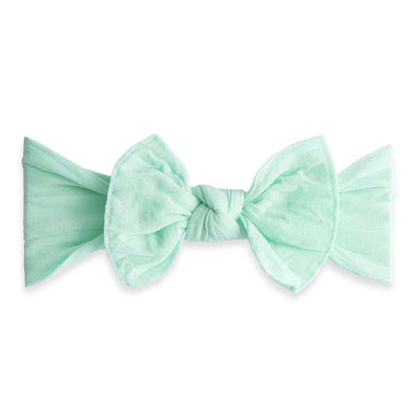 Baby Bling Bow Mint Knot Headband