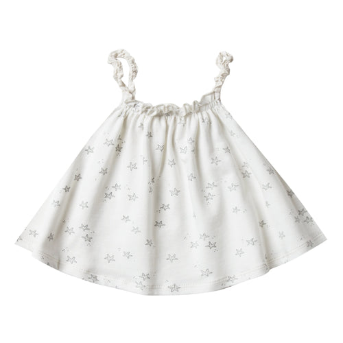 Baby girl cream swing top with starfish print