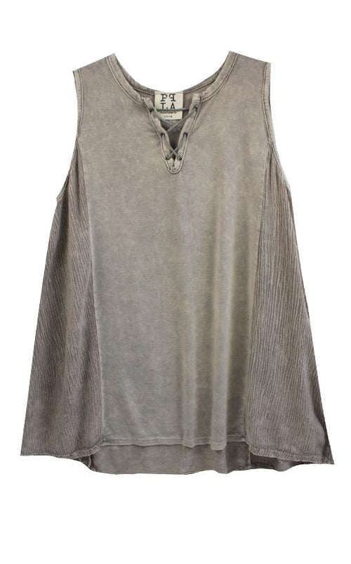 Grey Tank by PPLA - Little Skye Children's Boutique