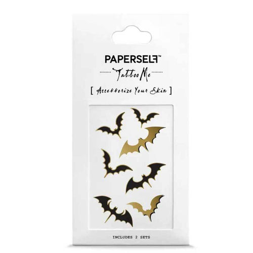 PAPERSELF Bat Temporary Tattoos Stickers