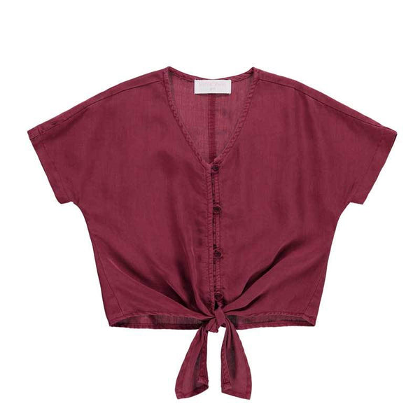 Bella Dahl Cranberry Kimono Sleeve Girls Top