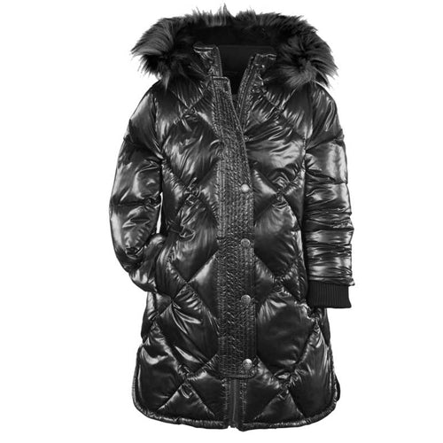Appaman Sloan Puffer Girls' Coat - Black