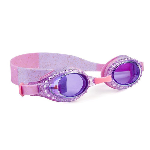 pink and purple goggles with gold glitter