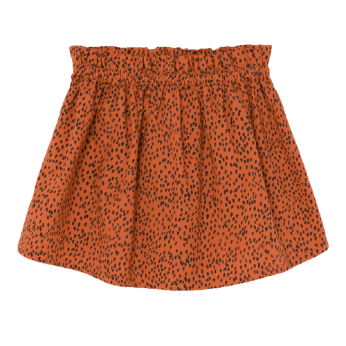 Bobo choses orange leopard print girls skirt