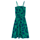 Bobo choses green abstract girls maxi sun dress