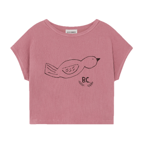Bobo choses pink short sleeve bird girls graphic tee