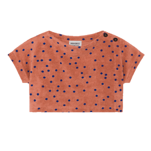 Bobo choses orange dot terry cloth girls sweatshirt