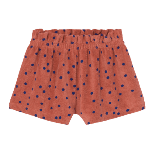 Bobo choses orange and blue dot girls shorts