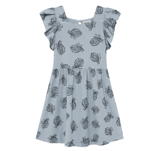 Bobo choses light blue pineapple print girls dress