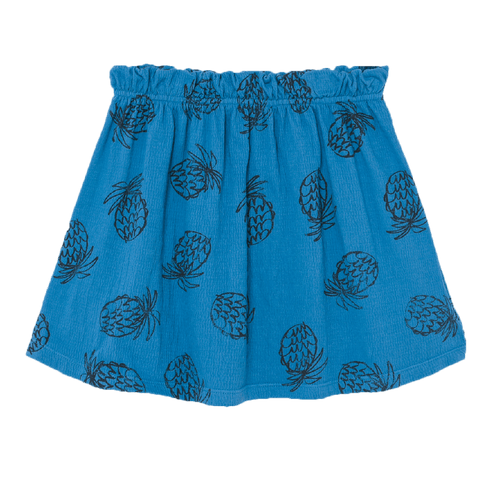 Bobo choses blue pineapple knit girls skirt