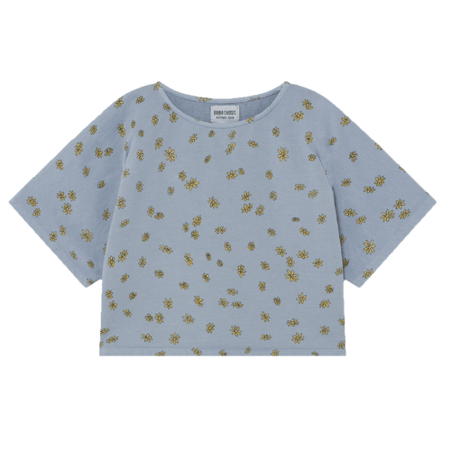 Bobo choses blue daisy print girls shirt