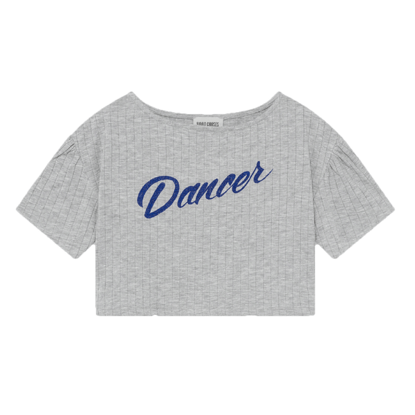 Bobo choses grey short sleeve dancer girls tee